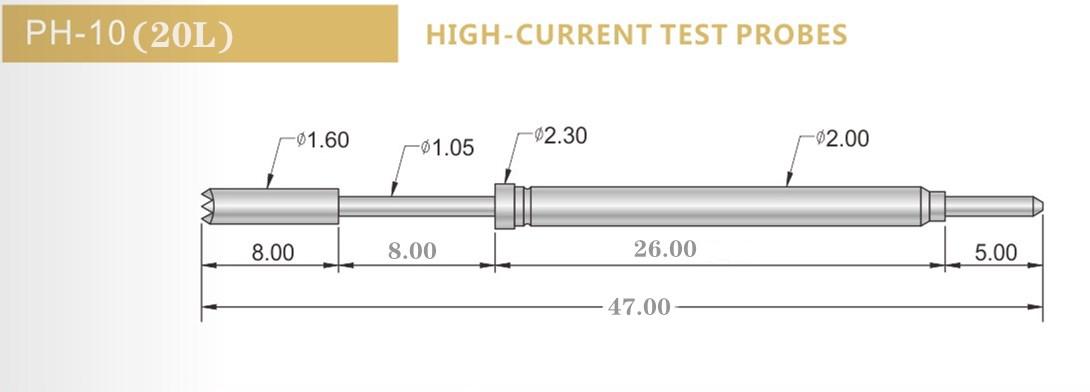 PH-10B 20L测试探针尺寸、华荣华测试探针厂家